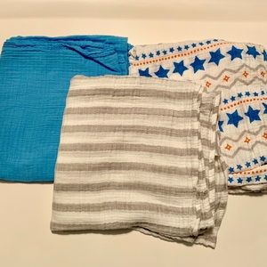 Aden and Anais 3-pack Muslin Swaddle Blankets